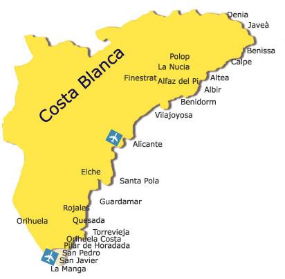 Spain Area Information Costa Blanca